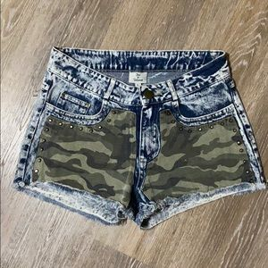 Hot and Delicious Camouflage Studded Denim…